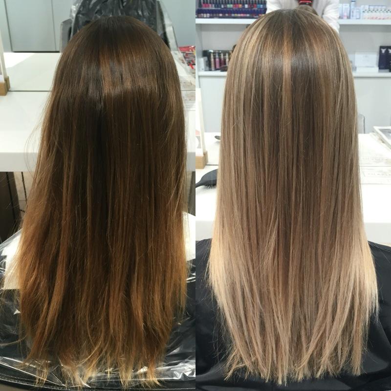 Покраска волос после мелирования