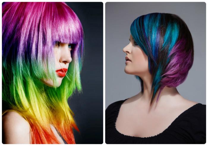 Как покрасить креативно покрасить волосы